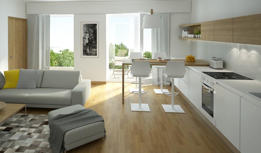 Candi Habitat render de una cocina abierta