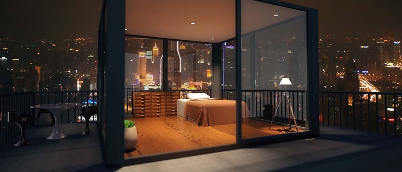 Candihabitat Barcelona reforma la terraza e intégrala en el dormitorio