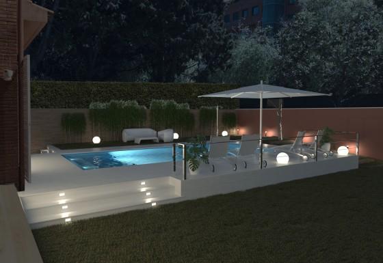 Proyecto piscina en casa unifamilar en Sant Just